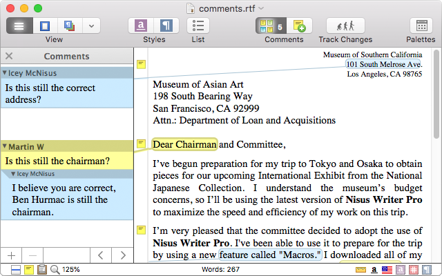 Nisus Writer Pro - Powerful Word Processor for macOS